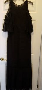 A beautiful black Spanish-style evening gown